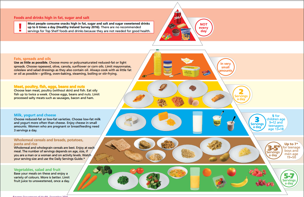 new irish food pyramid   any basis in science   eating atkins