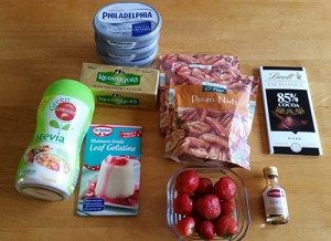Low Carb Cheesecake Ingredients